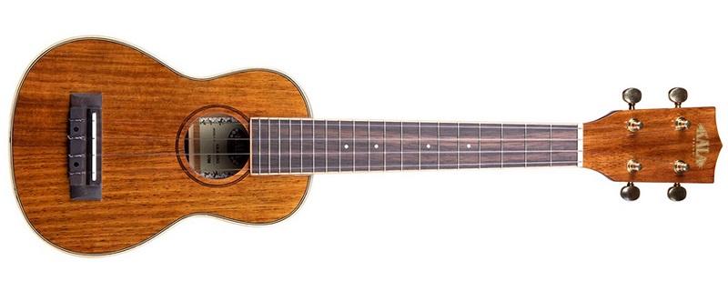 Kala Hawaiian Koa Long Neck Soprano Ukulele