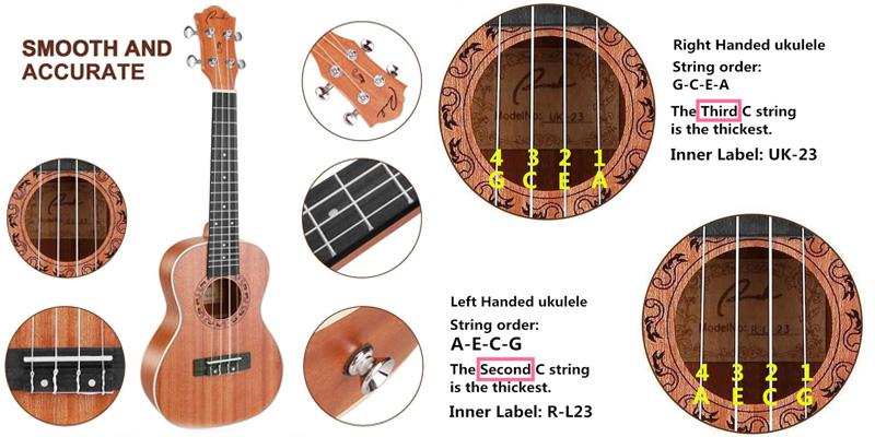 Left-Handed ukulele