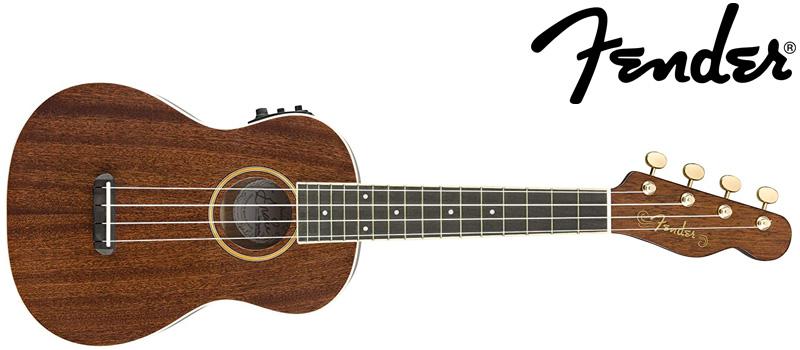 fender ukulele with logo