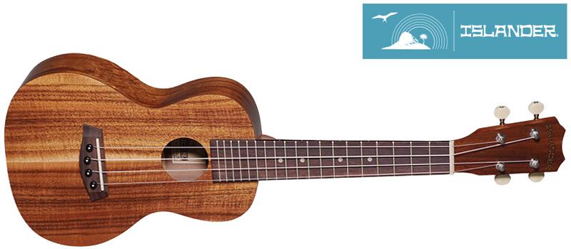 islander ukulele with logo