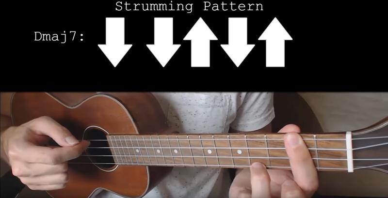 Dmaj7 strumming pattern