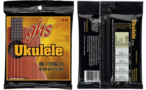 GHS H-10 Hawaiian Ukulele Black Nylo